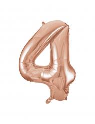 Palloncino alluminio oro rosa numero 4 - 86 cm