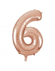 Palloncino alluminio oro rosa numero 6 - 86 cm