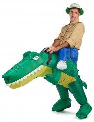 Costume da coccodrillo gonfiabile per adulto Carry me