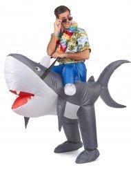 Costume da squalo gonfiabile adulto