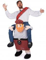 Costume Carry Me uomo a dorso di scozzese per adulto