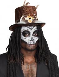 Cappello voodoo con capelli per adulto