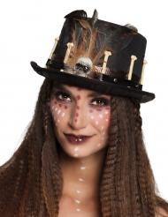 Cappello a cilindro voodoo adulto