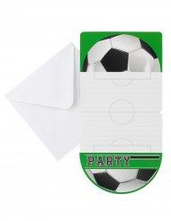 6 inviti di compleanno festa calcio