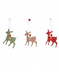 6 decorazioni renna Natale