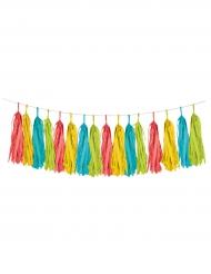 Ghirlanda con pon pon multicolor per festa