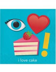 16 tovaglioli di carta con torta Emojions™