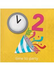 16 tovaglioli di carta gialli Emoji™ party
