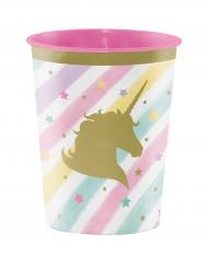 Bicchiere in plastica rigida con unicorno