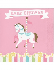 16 tovaglioli di carta giostra Baby Shower