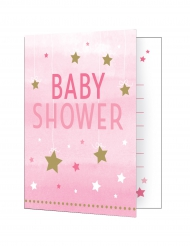 8 inviti Baby Shower Little Star rosa