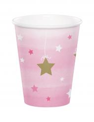 8 bicchieri Little Star rosa