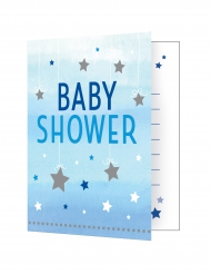 8 inviti Baby Shower Little Star blu