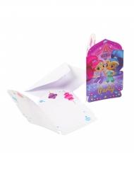 8 inviti di compleanno con busta Shimmer & Shine™