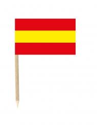 50 bandierine con stecchino della Spagna