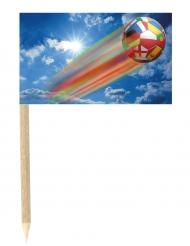 50 bandierine con pallone mondiali