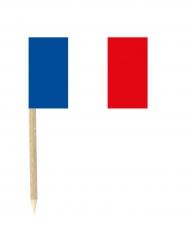 50 bandierine con tricolore francese