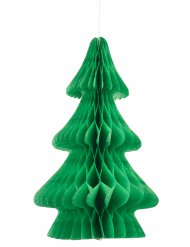 Centrotavola albero di Natale in carta ignifuga verde