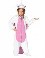 Tuta da unicorno bianco e rosa per bambino