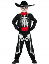 Costume da scheletro dia de los muertos bambino