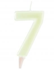Candelina fosforescente numero 7