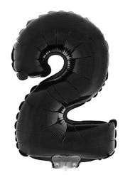 Palloncino alluminio numero 2 nero 40 cm