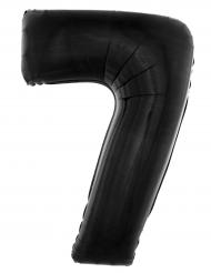 Palloncino alluminio numero 7 nero 40 cm