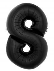 Palloncino alluminio numero 8 nero 40 cm