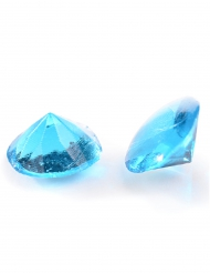 20 mini diamanti in gelatina azzurri