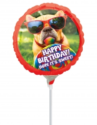 Palloncino alluminio cagnolino Happy Birthday
