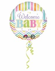 Palloncino di alluminio Welcome Baby pastello
