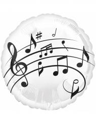 Palloncino di alluminio note musicali