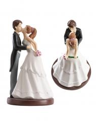 Statuina sposi che si baciano