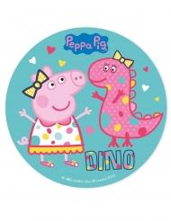Disco di zucchero blu Peppa Pig™ 20 cm