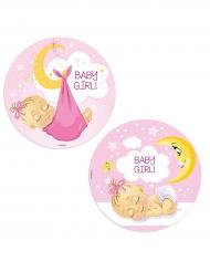 Disco in ostia Baby Shower bambina