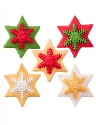 5 decorazioni per dolci di zucchero stelle