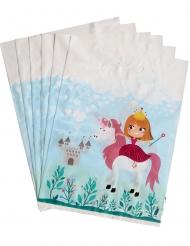 6 Buste regalo di plastica Principessa 15 x 23 cm