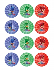 12 Decorazioni in zucchero per biscotti Super Pigiamini™