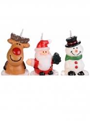3 mini candele natalizie