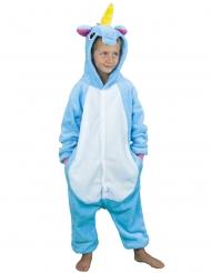 Travestimento da unicorno azzurro per bambino