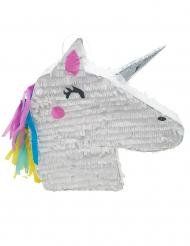 Pignatta bianca testa di unicorno