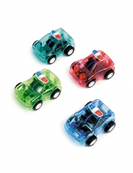 Mini macchina della polizia in plastica