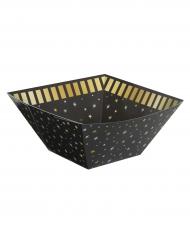 Ciotola in cartone nera e stelle oro
