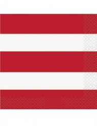 16 tovagliolini di carta a strisce USA