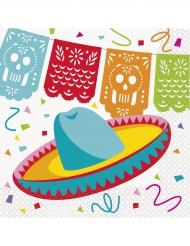16 tovaglioli di carta festa messicana