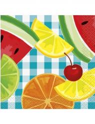 16 tovagliolini di carta con frutta