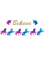 Ghirlanda con unicorno Believe