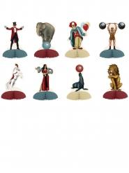 8 mini centrotavola circo vintage