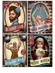 4 locandine circo vintage