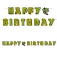 Ghirlanda verde Happy Birthday tema dinosauri